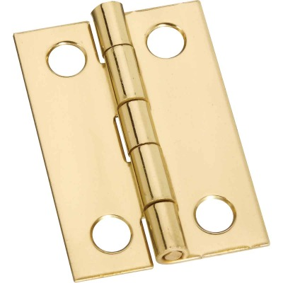 National 1-1/2 In. x 1 In. Medium Clear Coat Decorative Hinge