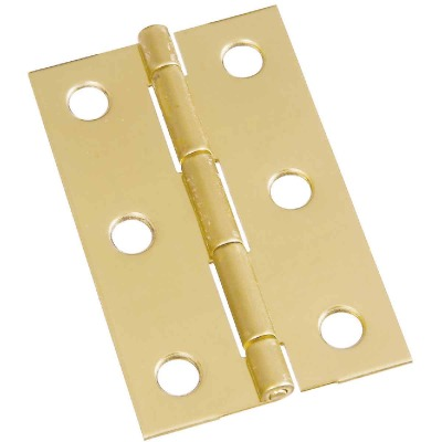 National 2-1/2 In. x 9/16 In. Medium Clear Coat Decorative Hinge