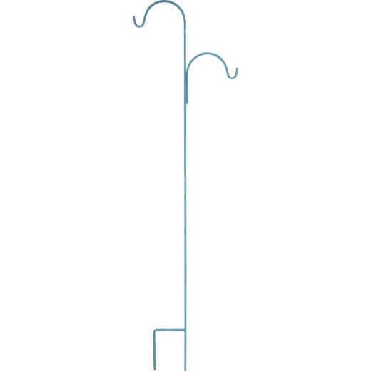 American GardenWorks UrbanGarden 90 In. Calvary Blue Offset Double Hanger Shepherd Hook